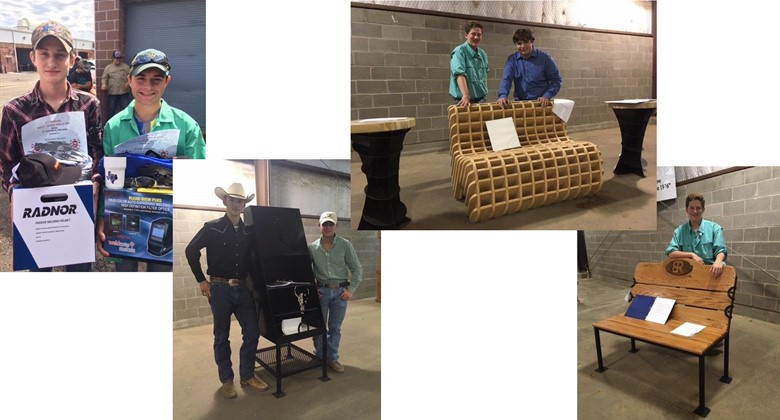 BRHS Ag Students with their projects.