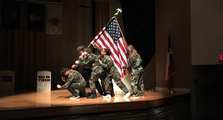 Theater Arts students paid tribute to Veterans during the annual Veteran's Day Program.